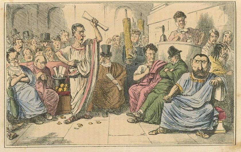 Comic_History_of_Rome_Table_10_Cicero_denouncing_Cataline