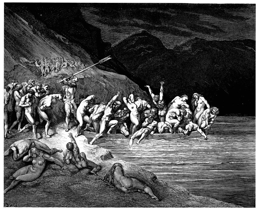 The Doomed Souls crossing the Acheron