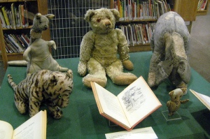 Winnie and some of his friends in the New York Public Library