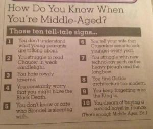 middle aged