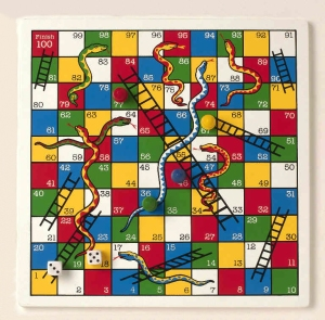 Snakes and Ladders. Karma style
