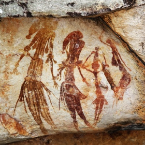 Bradshaw rock paintings  Western Australia