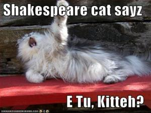 You didn't really think you'd get away without seeing Shakespeare Cat did you?