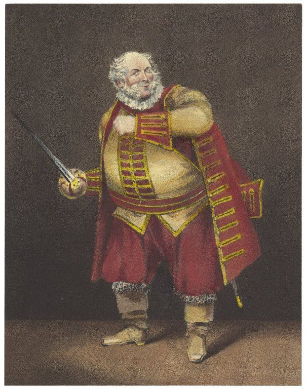 A colorized version of Gilbert's Falstaff