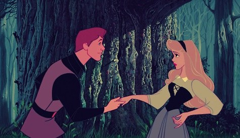 """If memory serves, Aurora is singing """"Once upon a dream"""" when the princes encounters her"""