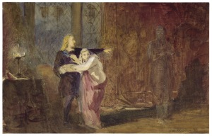 Painting of Edmund Kean as Hamlet