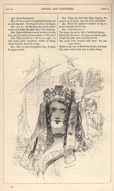 Cleopatra and cherub Illustrator: Kenny Meadows Engraver: John Orrin Smith Original Illustration Size: 155 x 115 mm / 6″4 x 4″16 Illustration Number: 9/19